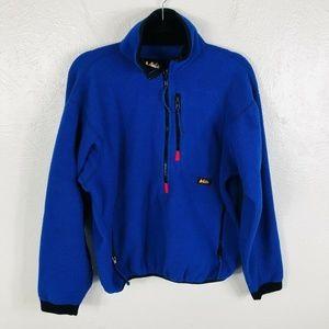 Vintage REI Sz Medium Blue Half Zip Fleece Jacket
